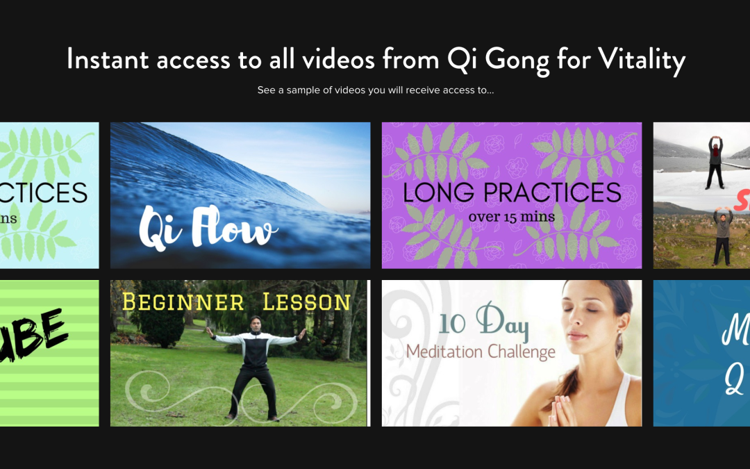 New Qi Gong website and videos