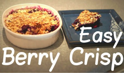 Easy 5 Minute Blueberry Crisp