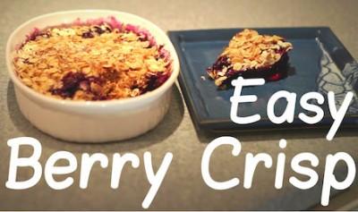 Easy 5 Minute Blueberry Crisp
